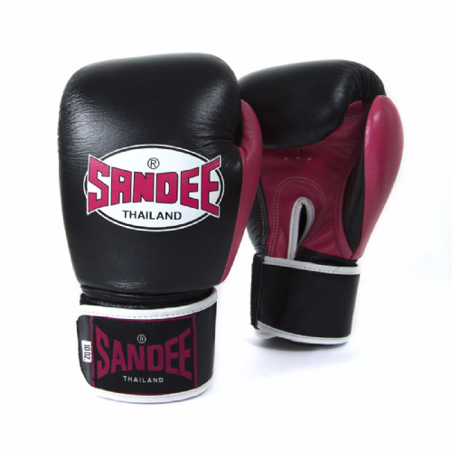 Sandee Neon Velcro Boxing Gloves - Pink